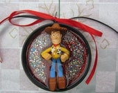 Toy Story Christmas - upcycled doll ornament