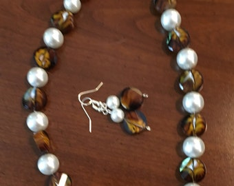Brown with pearls