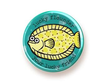 Lucky Flounder - button