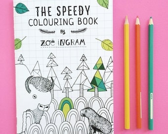 The Speedy Coloring Book - 17 spreads to color