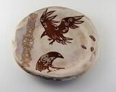 Hugninn and Muninn Ceramic Plate