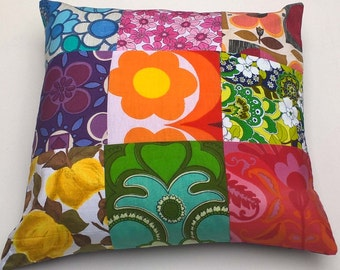 Large Vintage Textile Fabric Cushion.