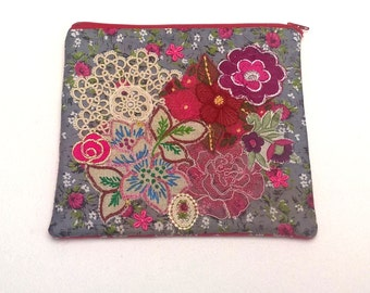 Embellished Textile Art Purse - One of a kind