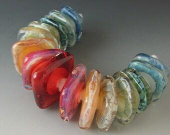 15 boro/borosilicate handmade artisan lampwork glass bead, Redside Designs, SRA