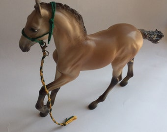 Model Horse Rope Halter and Lead Rope Traditional Foal Size