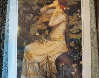"ON SALE John William Waterhouse Ophelia Art Print 24x36"" Heavy Stock Paper"