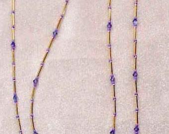 Tanzanite Swarovski Crystal Elements Eyeglass Chain Holder