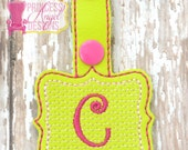 Personalized Embroidered Key chain  - Monogrammed Key Chain - Luggage Tag - Backpack Tag