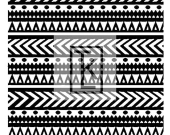 Ethnic Striped Textile Silk Screen Ready to Ship