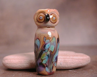 Glass Owl Bead Animal Spirit Totem Divine Spark Designs SRA
