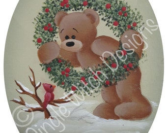 Oh, Hello Christmas Ornament - Decorative Painting Pattern ePacket