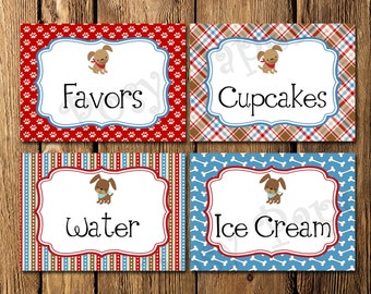 Printable Dog Gone Cute Birthday Food Labels