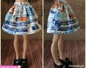 MiniFee Slim MSD Science Lab Skirt by Tickled Pink by Julie