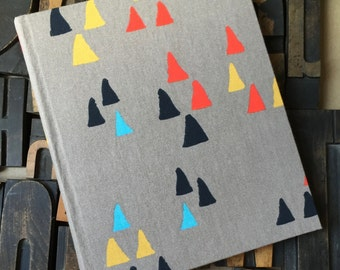 Photo Album - Large fabric covered with Abstract Triangles