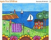 ON SALE Quilter's Cottage Print