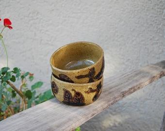 Vintage Ceramic Stoneware Bowls ~ 2