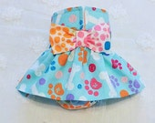 Female Dog Diaper Skirt  Perfect for your dog in Season and House Training Dog Paws and Dots