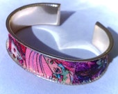 Recycled Comic Book Bangle Bracelet Jem and the Holograms