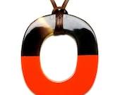 Horn & Lacquer Pendant - Q12202-O