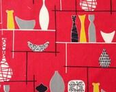 Original 50s Marian Mahler Vase Fabric  - unused atomic mid Century Modern
