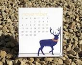 SALE 2016 Desk Calendar - Illustrated Desk Calendar
