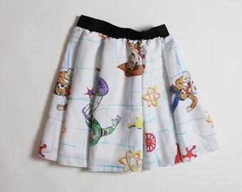 TOY STORY Skirt, Handmade Disney Skirt, Women Disney Skirt, Adult Disney Skirt, Disneyland skirt, Pixar skirt