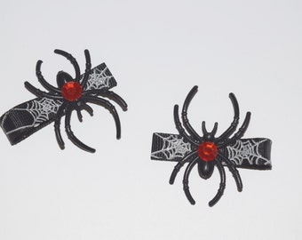 Spider Hair Clips - Buy 3 Items, Get 1 FREE, Hallowen Hair Clips, Black Widow Hair Clip, Girls Hair Clips Toddler Baby Kids Creepy Spider