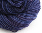 Hand Dyed Aran weight mini Empire Rambouillet Wool 213 yds 4oz Iolite