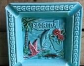 Vintage Florida Ashtray-Florida State Souvenir-Keepsake-Memento-GF-Made in Japan
