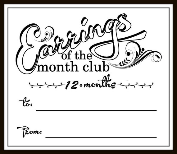 Earrings of the Month Club - 12mo
