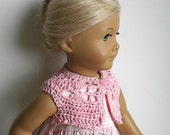 18 Inch Doll Clothes Crochet Cotton Short Bolero Vest Sweater Crop Top Handmade to Fit the American Girl and other Dolls - You Choose Color