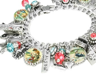 Beach Jewelry, Summer Bracelet, Beach Bracelet, Seashore, Ocean Charms,  Beach Lover Gift