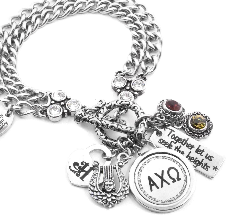 personalized sorority bracelet sorority motto custom. Black Bedroom Furniture Sets. Home Design Ideas