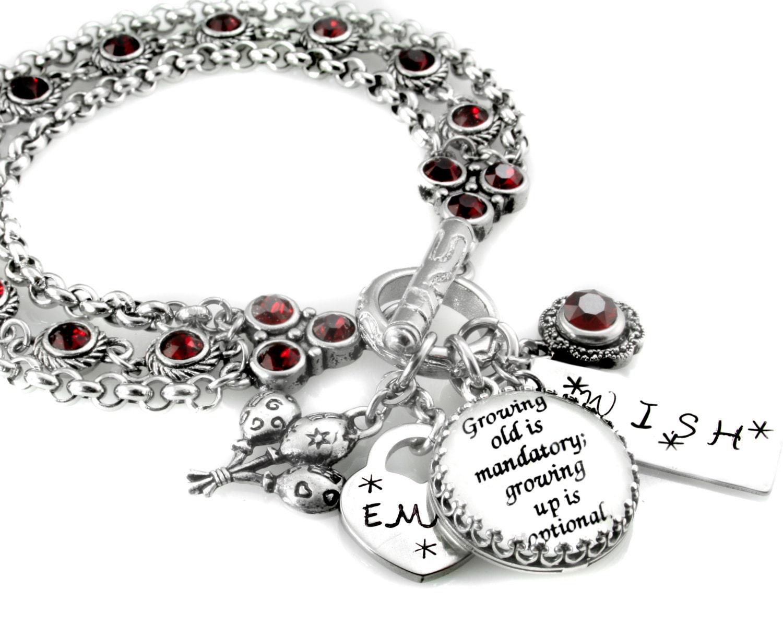 july birthstone bracelet personalized birthday jewelry