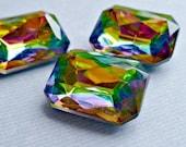 Christmas in July Sale - Newer 18x13mm Vitrail Octagon Glass Rhinestone Jewels (45-12F-2)