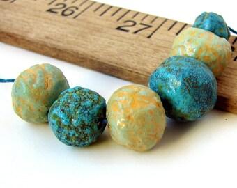 Handmade Polymer Clay Roundish Beads