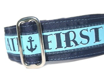 """1.5"""" Dog Collar First Mate - Choose Your Collar Style!"""