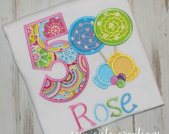 Candyland birthday shirt, Candy Birthday shirt, Lollipop Birthday shirt, Lollipop shirt,  Girl Birthday shirt, sew cute creations