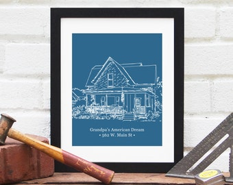 Gift for Dad, Father's Day Gift, Gift for Father, Gift for Step Dad Stepdad, Grandpa Gift, Gift for Men, Home Illustration - Art Print