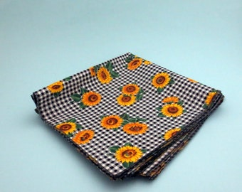 Sunflower Cotton Cloth 18 Inch Napkins Set of Four