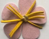 HANDMADE -Rose Pink Flower hair clip-Pin-Pink decorative flower Fascinator-Spring Fashion trend