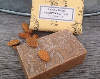 Almond & Honey Goat Milk Soap - indulge