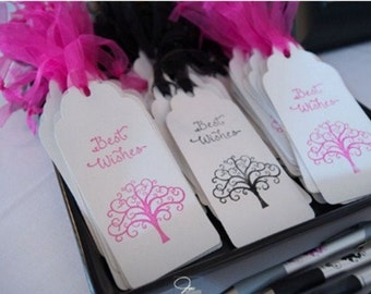 Wedding Wishing Tree Tags with Tree - Reception - Guest Book Alternative (set of 50)