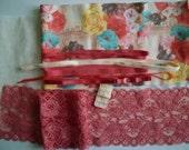 DIY BRA Kit FIRM Multicolor Roses & Coral Relief by Merckwaerdigh