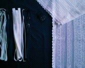 DIY Fabric and notions Navy & White Dots for 1 BRA and BRIEF by Merckwaerdigh
