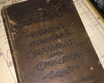 1880 Harvey's Elementary Grammar and Composition