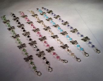 Green Swarovski Crystal Butterfly Bracelets