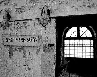 Hydrotherapy - Eastern State Penitentiary, Philadelphia PA - matted photograph
