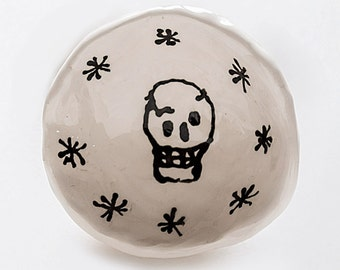 Ring Dish with Skull and Stars