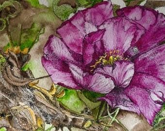 Watercolor Original Arizona Flower